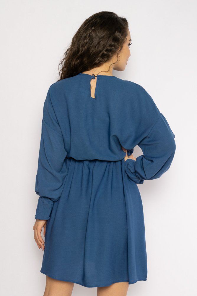 Акция на Однотонное платье с длинными рукавами 632F004-3 от Time Of Style - 18