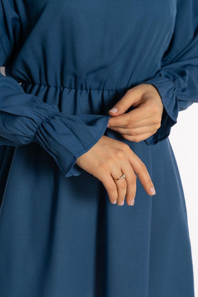 Акция на Однотонное платье с длинными рукавами 632F004-3 от Time Of Style - 19