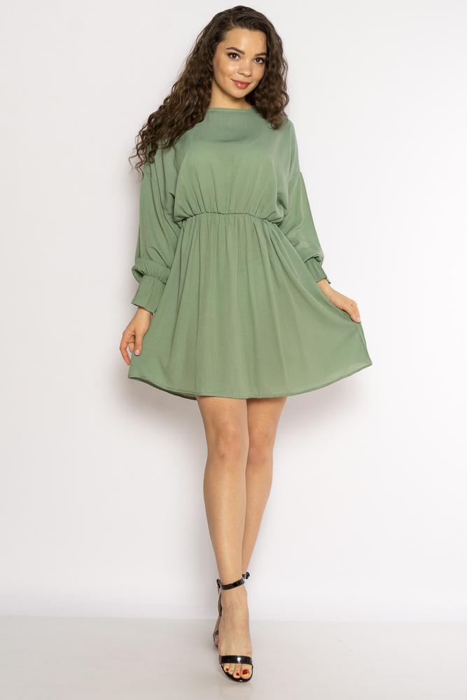 Акция на Однотонное платье с длинными рукавами 632F004-3 от Time Of Style - 20