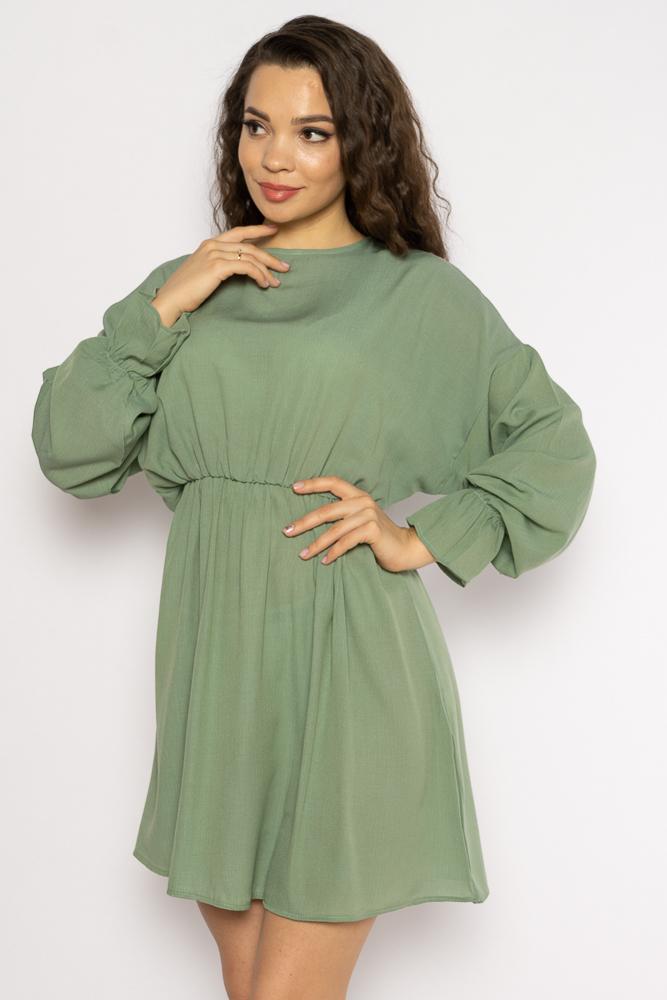 Акция на Однотонное платье с длинными рукавами 632F004-3 от Time Of Style - 21