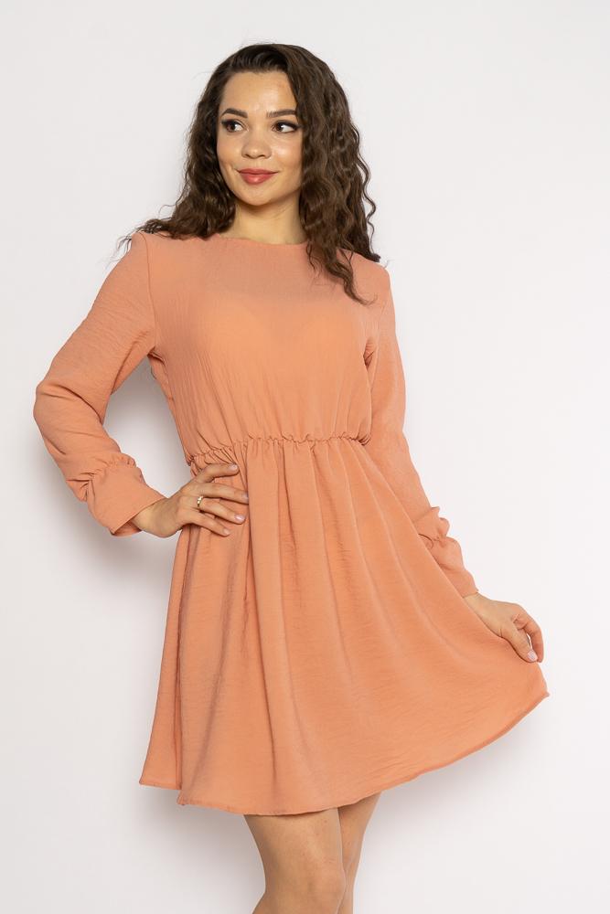 Акция на Однотонное платье с длинными рукавами 632F004-3 от Time Of Style - 4