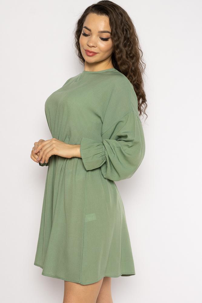 Акция на Однотонное платье с длинными рукавами 632F004-3 от Time Of Style - 22