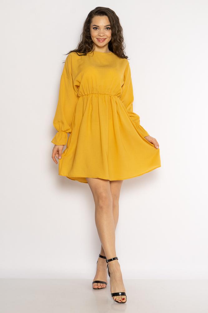 Акция на Однотонное платье с длинными рукавами 632F004-3 от Time Of Style - 28