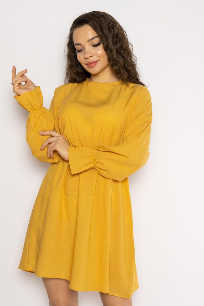Акция на Однотонное платье с длинными рукавами 632F004-3 от Time Of Style - 27