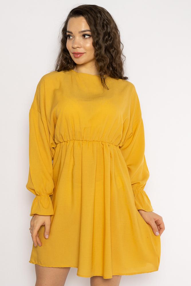 Акция на Однотонное платье с длинными рукавами 632F004-3 от Time Of Style - 26