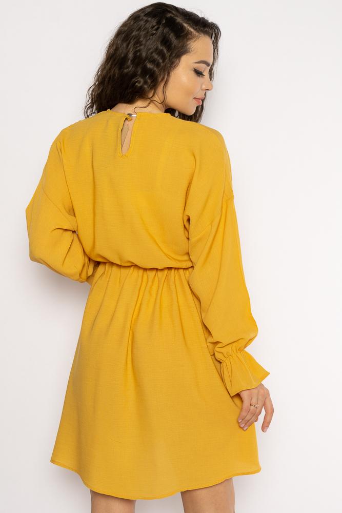 Акция на Однотонное платье с длинными рукавами 632F004-3 от Time Of Style - 24