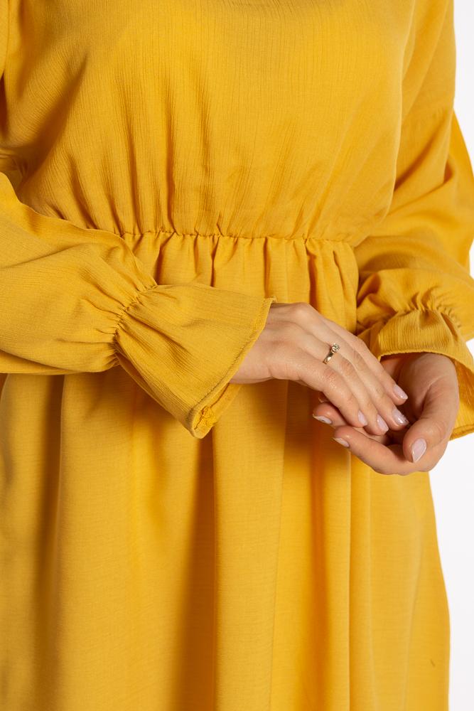Акция на Однотонное платье с длинными рукавами 632F004-3 от Time Of Style - 31