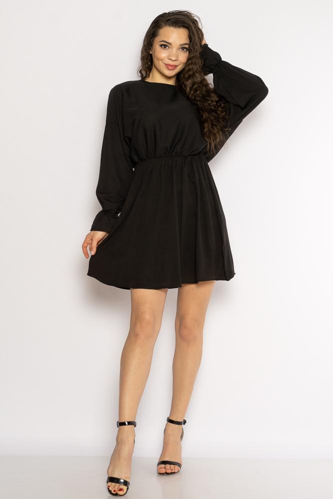 Акция на Однотонное платье с длинными рукавами 632F004-3 от Time Of Style - 30