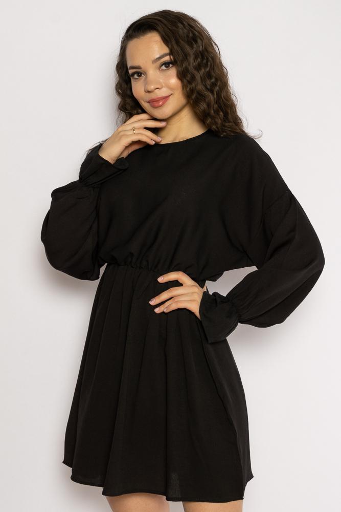 Акция на Однотонное платье с длинными рукавами 632F004-3 от Time Of Style - 32