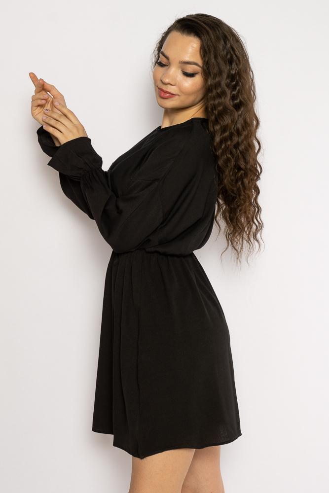 Акция на Однотонное платье с длинными рукавами 632F004-3 от Time Of Style - 33