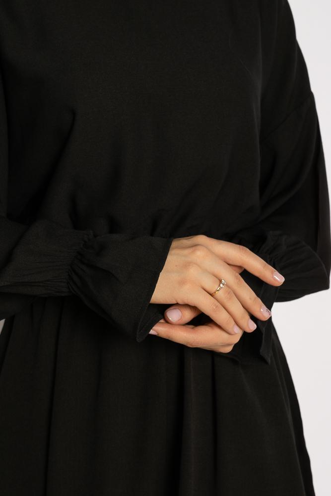 Акция на Однотонное платье с длинными рукавами 632F004-3 от Time Of Style - 35