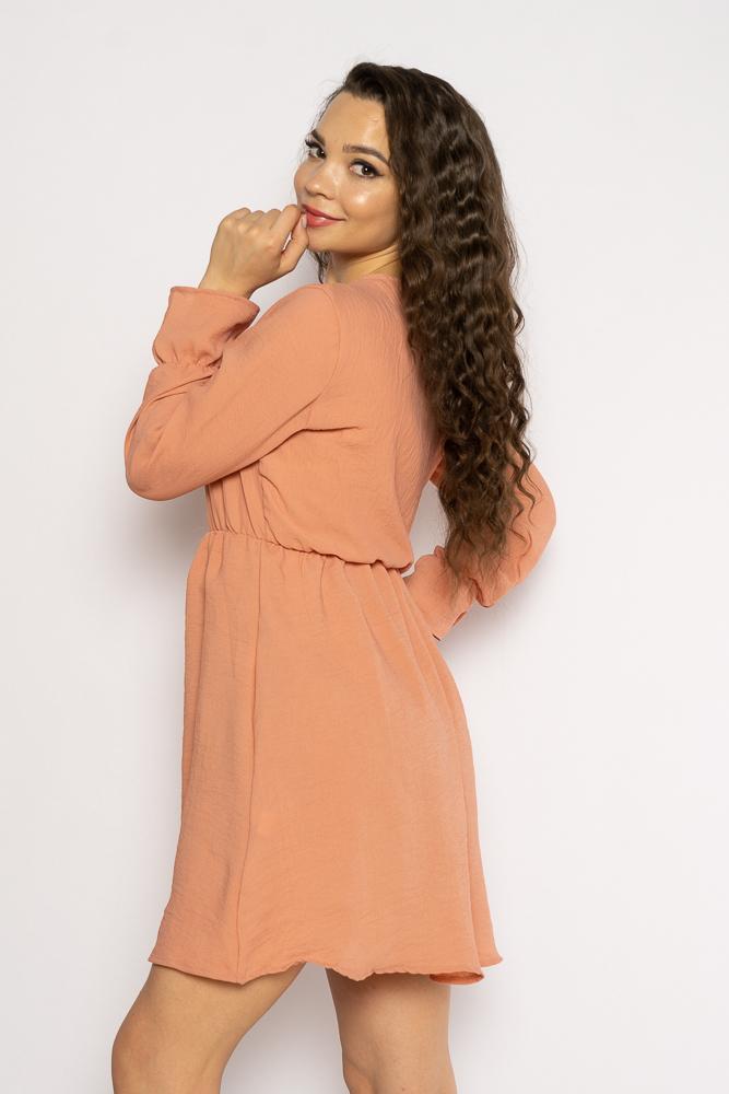 Акция на Однотонное платье с длинными рукавами 632F004-3 от Time Of Style - 12