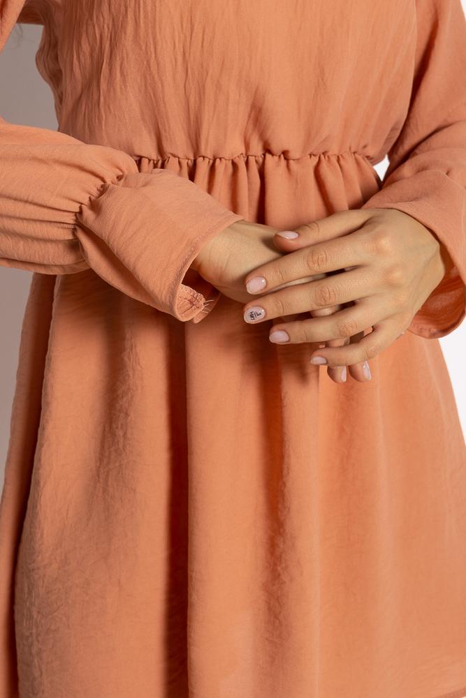Акция на Однотонное платье с длинными рукавами 632F004-3 от Time Of Style - 10