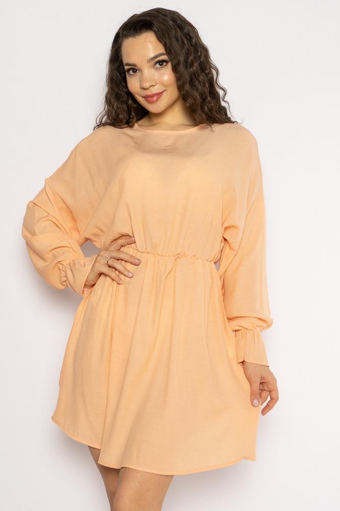 Акция на Однотонное платье с длинными рукавами 632F004-3 от Time Of Style - 8