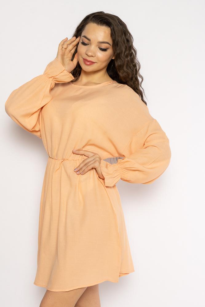 Акция на Однотонное платье с длинными рукавами 632F004-3 от Time Of Style - 6