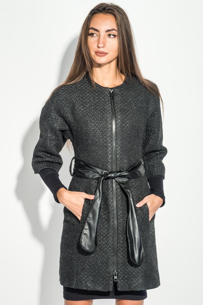 Пальто женское с поясом, рукав «Летучая мышь» 64PD161