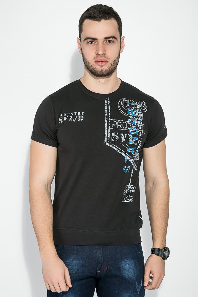 Купить Мужские футболки, Футболка мужская с принтом 81P3020, Time of Style, Белый, Серый, Черный