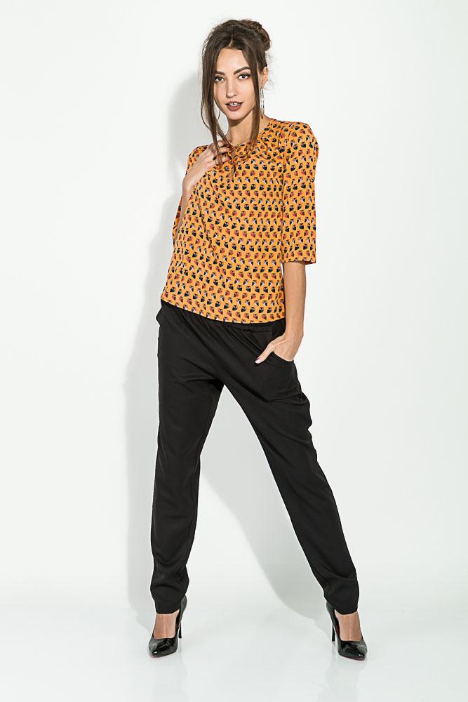 Блузка женская, шифоновая 81P0112, Time of Style, Желтый, Оранж-беж, Желто-зеленый, Оранжево-синий, Электрик/белый  - купить со скидкой