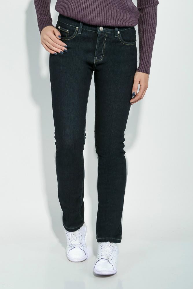 Купить Женские джинсы, Джинсы женские зимние, однотонные 19PL125, Time of Style, Сине-серый, Грифельный
