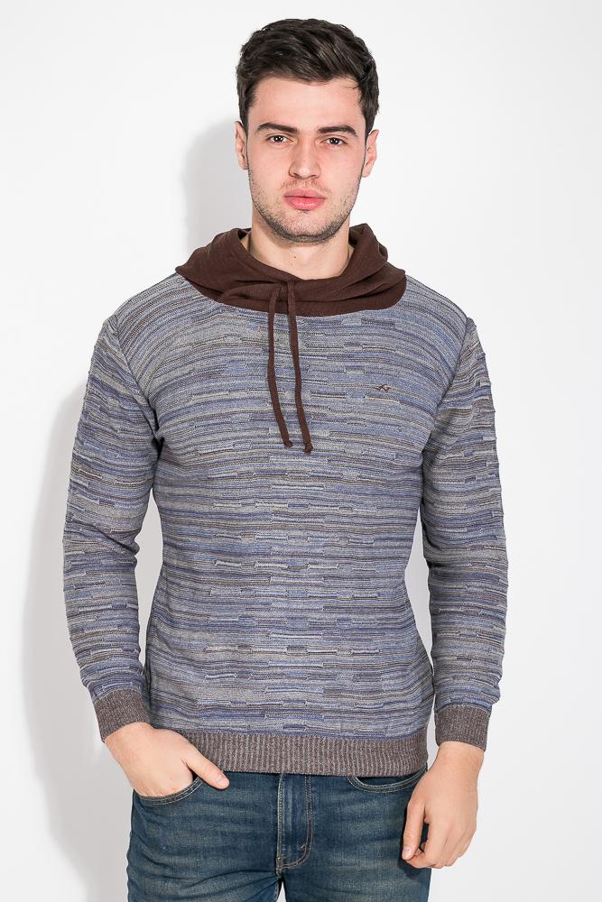 Купить Свитер мужской, два цвета 48P3243, Time of Style, Серо-синий, Серо-голубой, Зелено-коричневый, Грифельно-синий