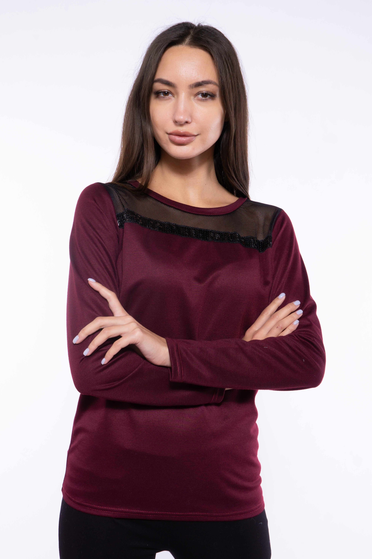 Купить Джемпер женский 120PKLD1662, Time of Style, Бордово-черный, Светло-серый/черный, Черный, Марсала-черный