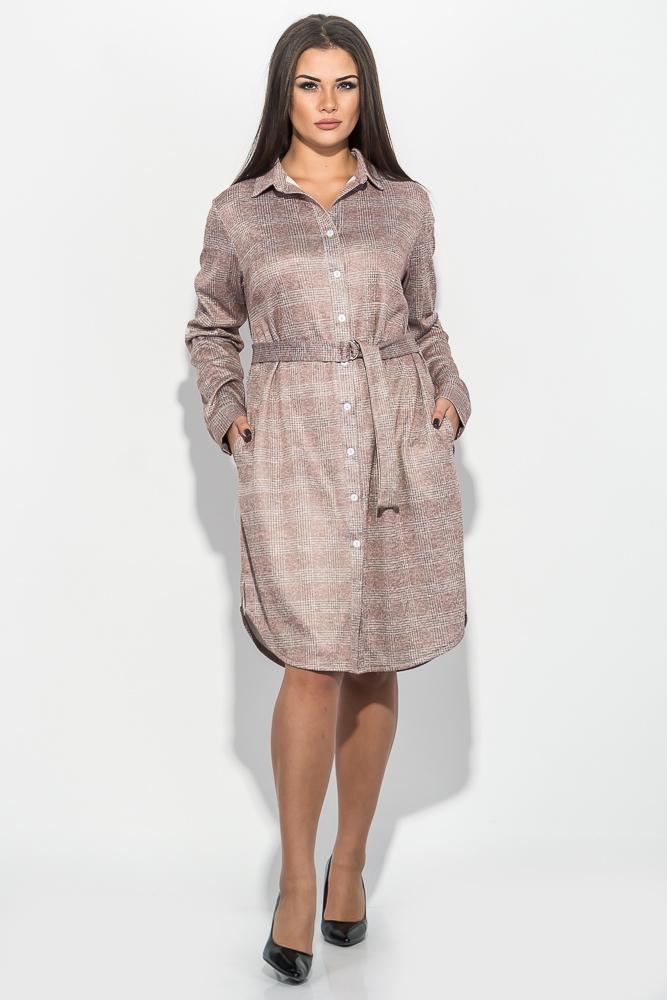 Платье (полубатал) женское с поясом 64PD290